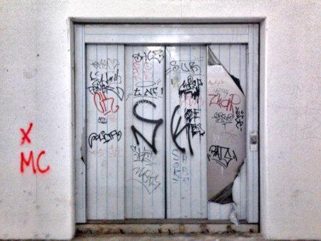 Aufzug in der Ruine des Ihmezentrums in Hannover-Linden