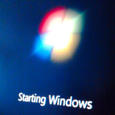 Startbildschirm von Windows 7