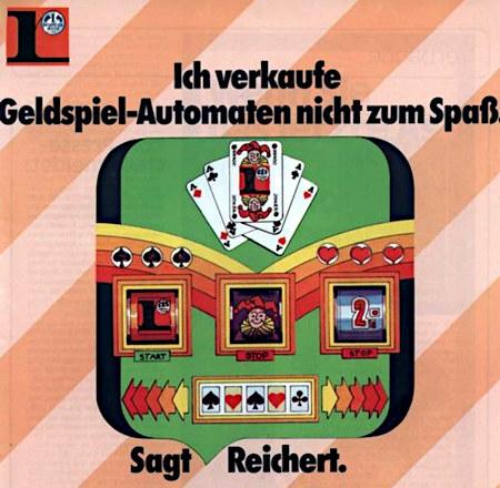 Ich verkaufe Geldspielautomaten nicht zum Spaß – sagt Reichert